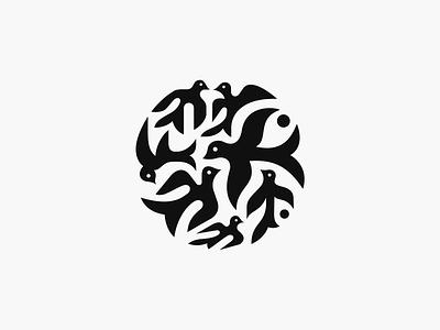 Barwinki ✻◍ patrykbelc belcdesign flatdesign branding logomark logodesign animallogo birds