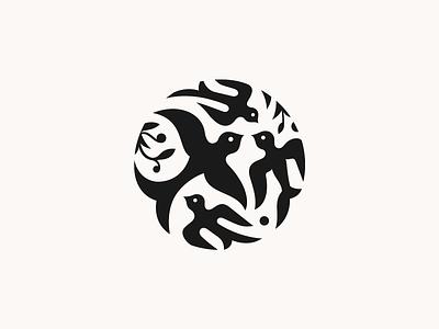 Barwinki ✻◍ flatdesign patrykbelc beldesign birds jewelry branding logomark logodesign barwinki