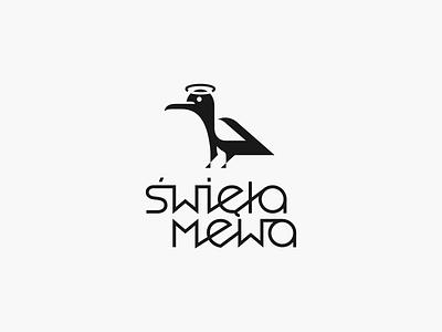 Święta Mewa ❍ negativespacelogo patrykbelc belcdesign restaurant branding logomarks logodesign mark seagull