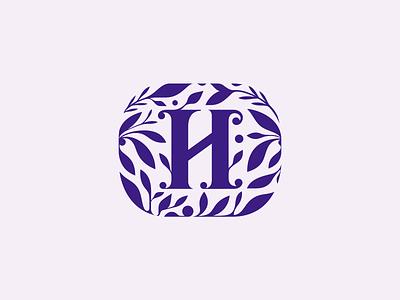 Halinow Park ❦ beautysalon flowers patrykbelc belcdesign leafs spa branding logomark logodesign flatlogo