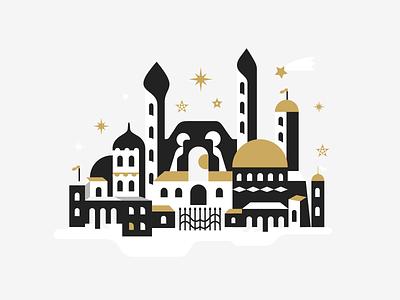 Merry Christmas 🔔 patrykbelc belcdesign flatdesign illustrator christmas illustration christmas card merrychristmas bethlehem