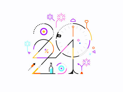 2021 | Happy New Year 💥✌ patrykbelc belcdesign print illustration newyears numbers typography happy new year 2021