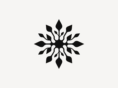 Larisa ❧ patrykbelc belcdesign space beauty salon branding flatdesign logodesign logo mark flower