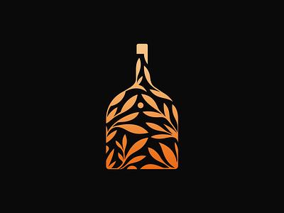 BIIN | Organic Whisky  ❧ patrykbelc belcdesign branding flatlogo bottle leafs logodesign logomark whisky organic