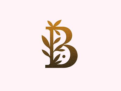 """""""B"""" letter ● branding patrykbelc belcdesign letter b logo flatlogo logodesign logomark leafs letter"""