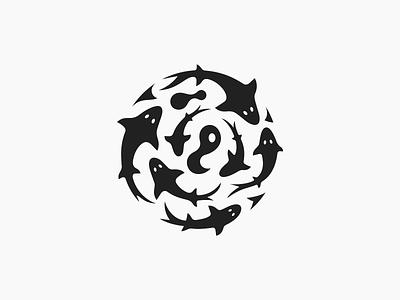 Sharks ♋︎ patrykbelc belcdesign branding flatdesign flatlogo logodesign logomarks fishes sharks