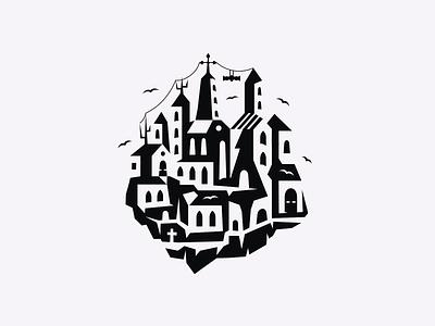 Halloween Castle ▲ patrykbelc belcdesign vectors halloweenillustration geometricdesign dribbbleweeklywarmup castle halloween