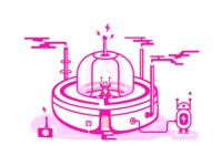 Illustration Dribbble / Spacecraft