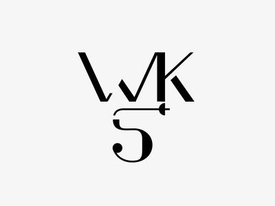 WKS / Mark warszawa wilanów szermierka sword swordplay znak sign mark minimal minimalism typo logotype