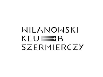WKS v2 logotype typo minimalism minimal mark sign znak swordplay sword szermierka wilanów warszawa