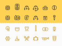 Music Iconset / Wip 1