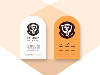 Faladin | | Business cards businesscards visualidentity branding restaurant pizzahouse logodesign belcdesign blcstudio