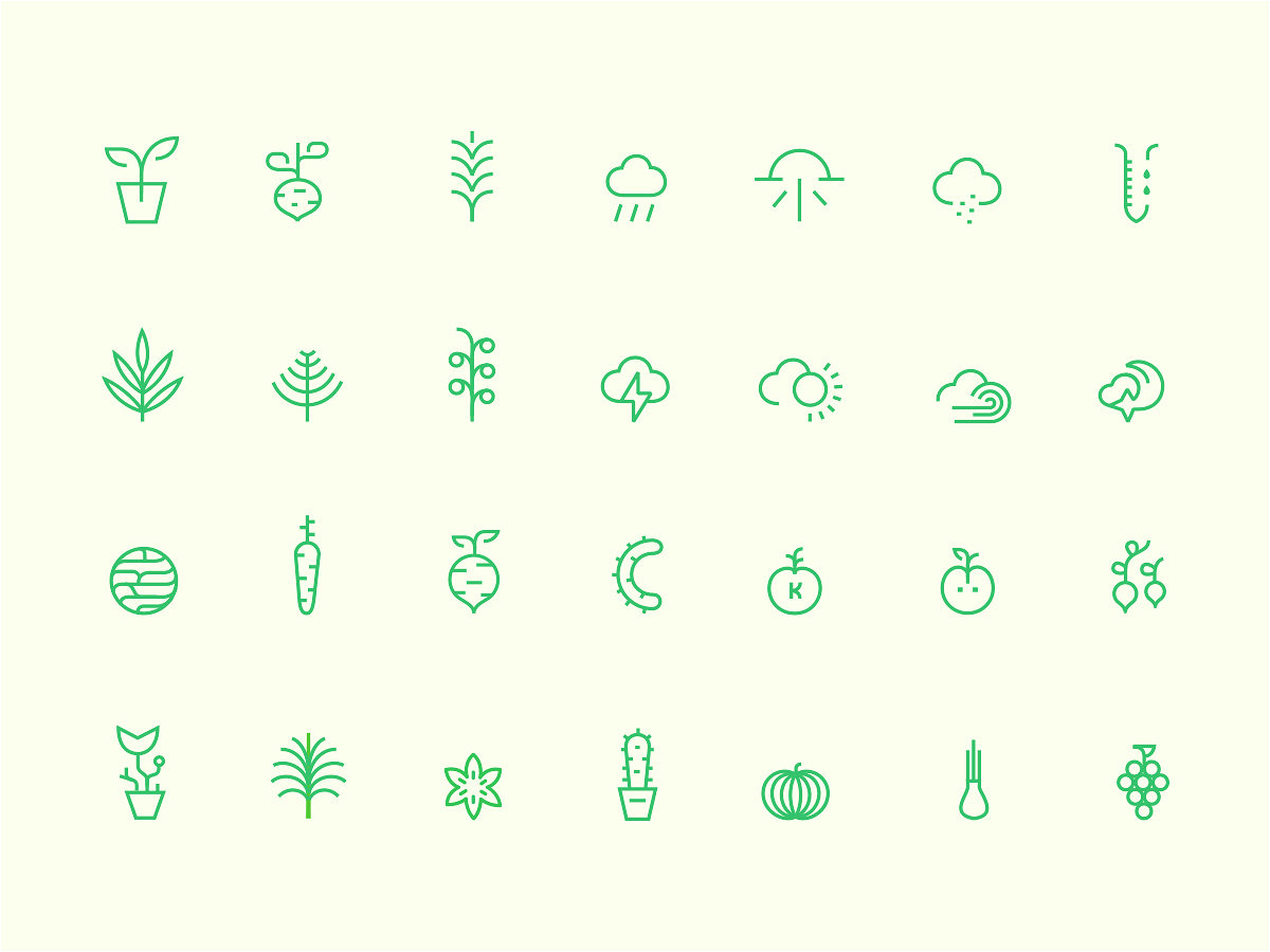 Nature Icons 🌿 blcstudio belcdesign design branding nature plants iconset icondesign icons