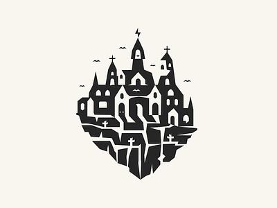 Halloween Castle 🦇 blcstudio belcdesign illustration vectors castle challenge halloween dribbbleweeklywarmup