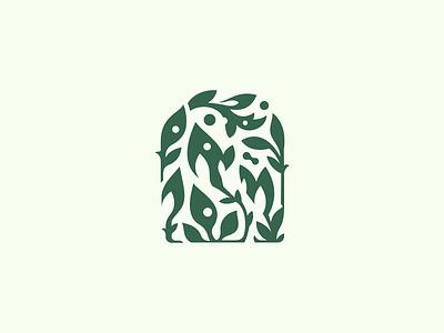 Natural Spa | Logomark 🌿 logos blcstudio belcdesign spa natural door leafs branding logodesign logomark logo