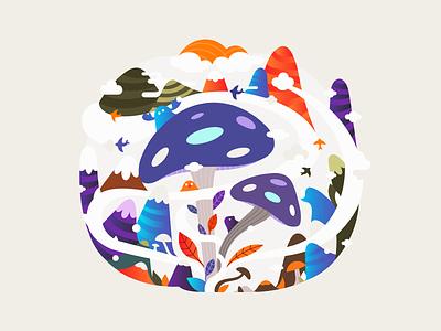 Mushrooms 🍄🌟 patrykbelc blcstudio belcdesign print nature vectors illustrator illustration mushrooms
