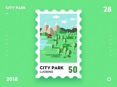 City Park park city gif ui illustrator