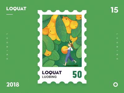 Loquat girl dribbble ui fruit illustration loquat