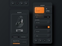 Headset Droid 2 clean design dribbble page ui