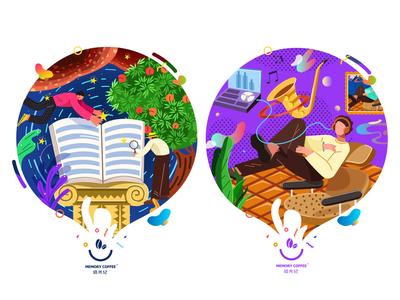 cafe shop 03 design branding illustrations