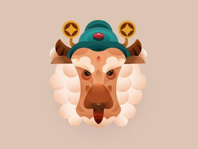 Chinese zodiac  NO:8 ui icon design illustrations