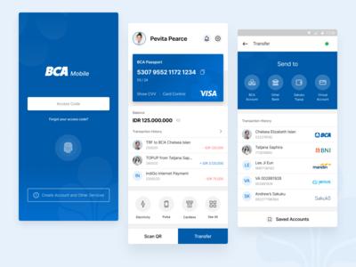 BCA Mobile Banking Redesign Concept redesign concept redesign banking mobile ux ui userexperience userinterface bca
