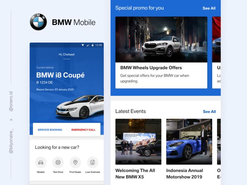 BMW Mobile Application Concept vehicle blue uidesign uiux auto car interface design mobile ux ui