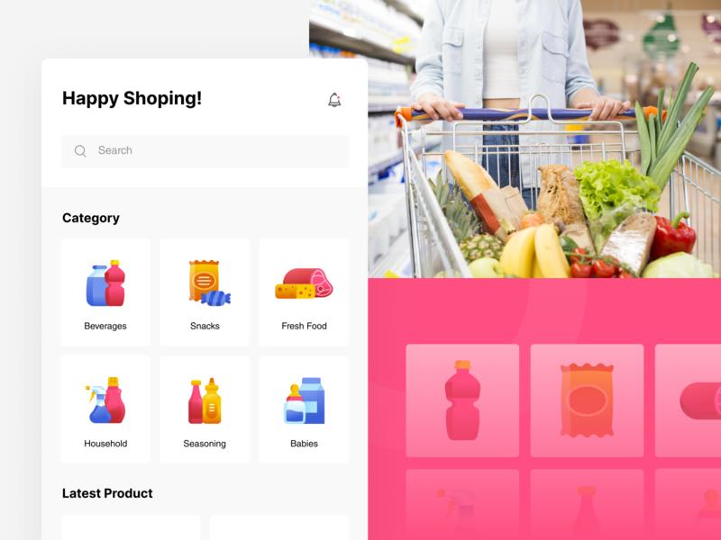 Mart Icon Set for e-Commerce ux mobile ui fresh food iconpack category icons category app mobile ecommerce mart
