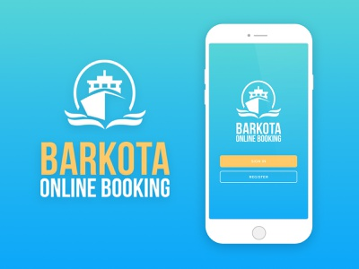 Barkota booking app mobile design ux ui mobile app design