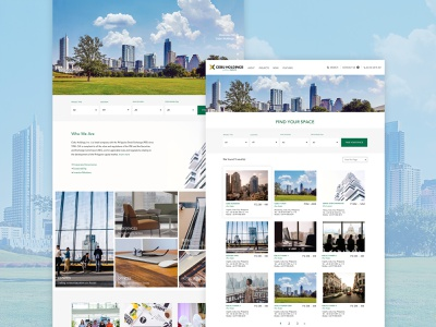 Cebu Holdings leasing properties ui  ux webdesign website design design