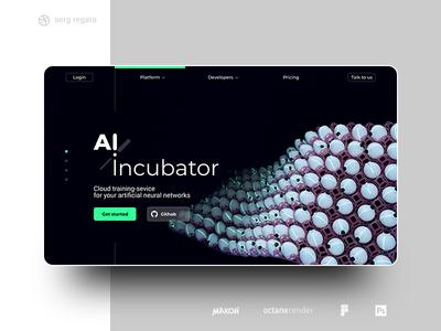 AI incubator web-page