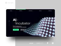 AI incubator web-page egg cloud service incubator typogaphy illustraion web ui octane cinema 4d 3d