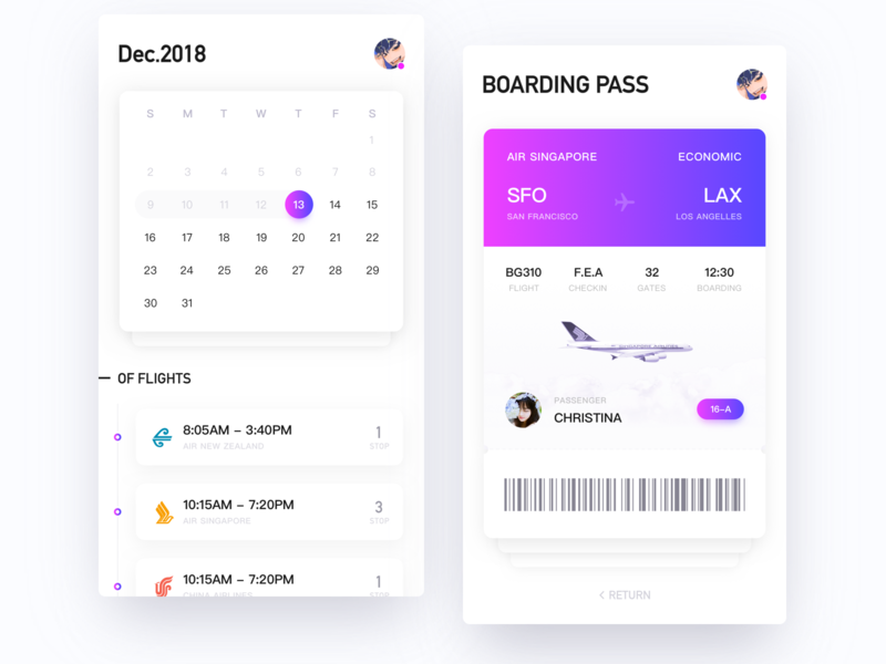 Boarding pass gradient air aircraft purple boarding boarding pass 粉 运球 蓝色 插图 扁平 设计 特征 创作的