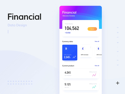 Financial data animation