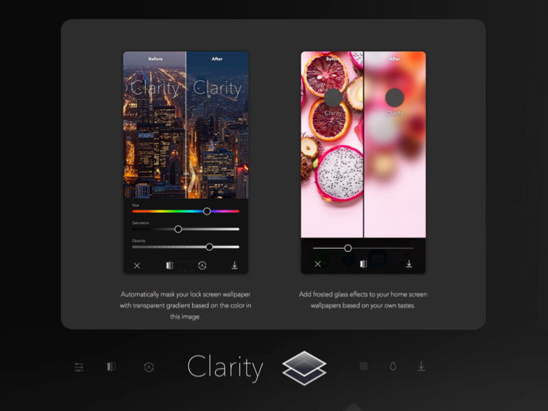 Clarity - Wallpaper Editing App: Mask & Blur by Todd J on