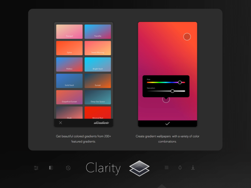 Clarity Wallpaper Editing App Create Your Gradient By Todd J On