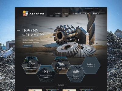 Fenimor website web homepage mining