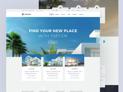 The Gem – Real Estate website real estate longpage mainpage