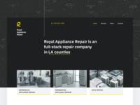 Royal Appliance Repair first screen
