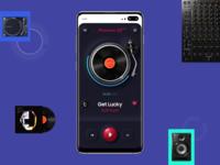 Neumorphic Music Player App music player figma music progress bar minimal pioneer dj vinyl application mobile play player ui design skeumorphic neumorphism neumorphic