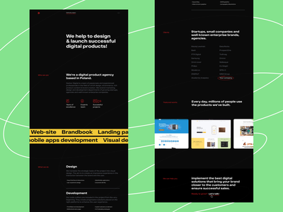 Dankor Digital New Website product design typography company about figma tilda portfolio web design business agency enterprise strartup uiux ui product digital agency