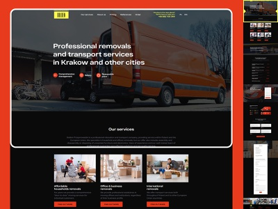 Moving company website 🚚🐱‍🏍😎 mobile product design service golden poland krakow transportation household removals tilda figma mercedes sprinter moving company web design ui design