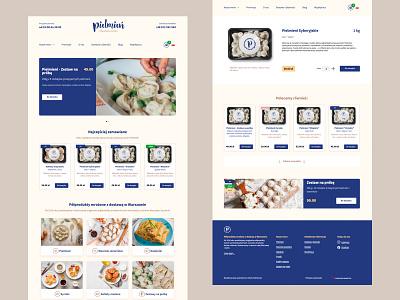 Pielmien.pl woocommerce wordpress product page food shopping cart pierogi pielmien online shop pelmeni ecommerce ui ux web design figma