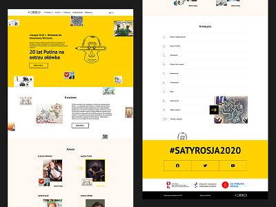 Exhibition of Russian satire website 2020 poland exhibition satire websites designs wordpress design wordpress theme wordpress development wordpress cartoon ui figma web design