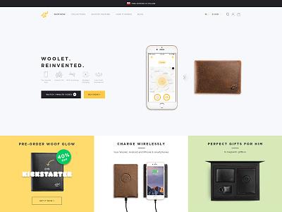 Meet a new Woolet.co kickstarter startup smart wallet ui design woolet