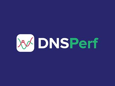 DNSPerf Logo logo charts branding identity logotype performance dns