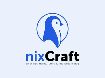 nixCraft Logo penguin identity logotype linux nixcraft