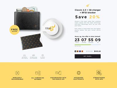 Flash Sale page ui design smart wallet woolet discount flash sale