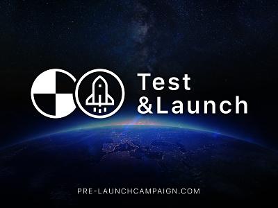 Test&Launch launch startup marketing identity branding logo