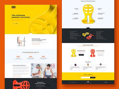 DrimDrum Landingpage abs ui design website design landing page